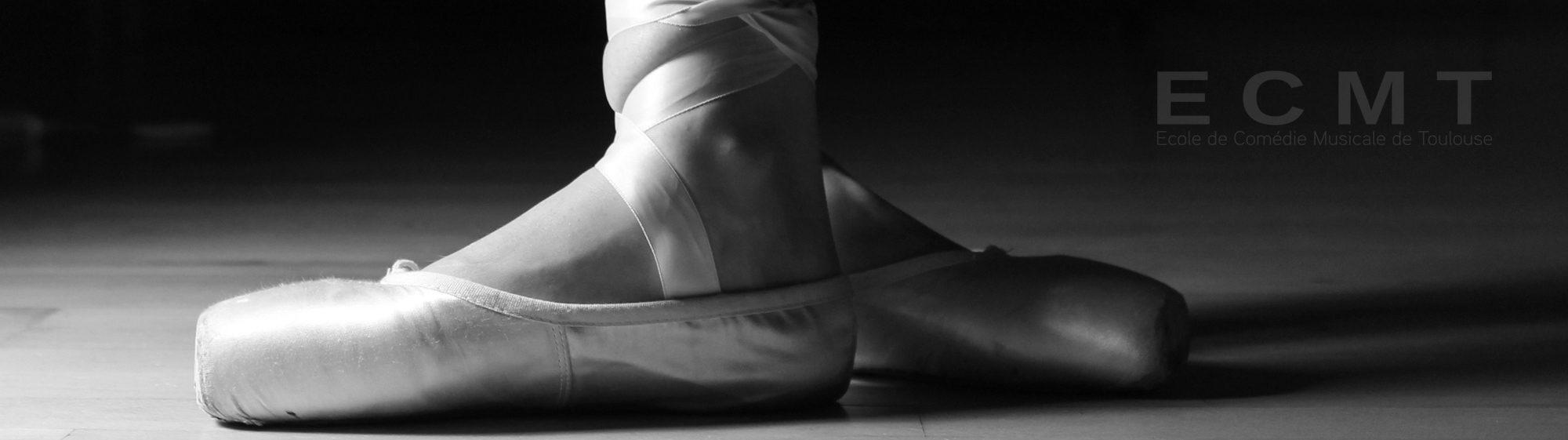 chausson danse classique noir blanc